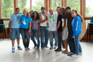 Dr. Gary with GDS teens at Camp Excel