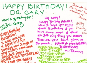 Happy Birthday Dr. Gary!